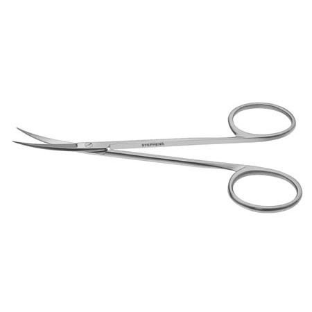 IRIS SCISSORS, 10.5CM, CURVED, RING HANDLE