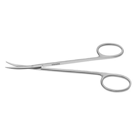 KNAPP STRABISMUS SCISSORS, CURVED, RING HANDLE
