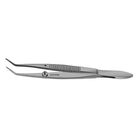 TROUTMAN SUPERIOR RECTUS FORCEPS, ANGLED, 1X2 TEETH